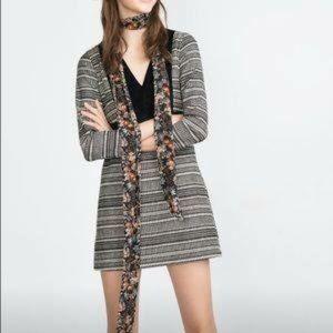 Zara Trafaluc Long Sleeve Mini Dress